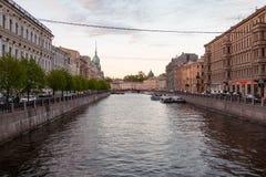 Canale di Griboyedov a San Pietroburgo Fotografia Stock Libera da Diritti