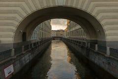 Canale di inverno fotografie stock
