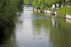 Canale di Landwehr a Berlino, Germania Fotografie Stock