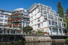 Canale di Lipsia fotografie stock libere da diritti