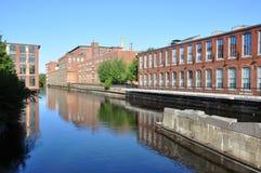 Canale di Lowell, Massachusetts, S.U.A. Immagine Stock