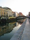 Canale di Milano Fotografie Stock Libere da Diritti