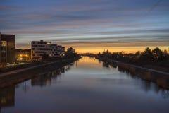 Canale di Mittelland Fotografia Stock
