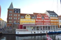 Canale di Nyhavn Fotografia Stock