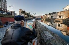 Canale di Otaru Fotografia Stock