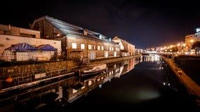 Canale di Otaru, Giappone Fotografie Stock
