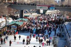 Canale di Ottawa Winterlude Rideau Fotografie Stock