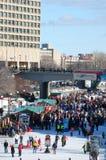 Canale di Ottawa Winterlude Rideau Fotografia Stock Libera da Diritti