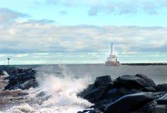 Canale di Portage del frangiflutti fotografia stock libera da diritti