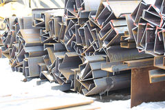 Canale di profili del metallo Fotografia Stock