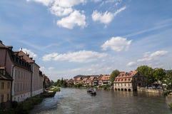 Canale di Reno-Principale-Danubio a Bamberga Fotografia Stock Libera da Diritti