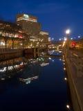 Canale di Rideau di vista di notte immagini stock