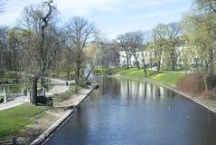 Canale di Riga Immagini Stock Libere da Diritti