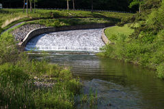 Canale di scarico del lago mountain nella Virginia, U.S.A. Immagine Stock Libera da Diritti