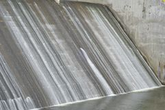 Canale di scarico della diga di tambakboyo fotografia stock libera da diritti