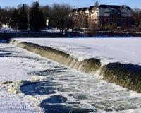 Canale di scarico di inverno Fotografie Stock Libere da Diritti