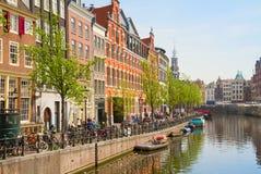 Canale di Singel, Amsterdam Fotografia Stock Libera da Diritti