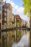Canale di Utrecht Paesi Bassi Fotografia Stock Libera da Diritti
