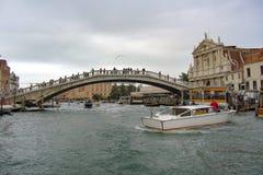 Canale di Venezia Italia Fotografie Stock