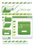 Canale di verde dell'interfaccia grafica di Web Immagine Stock Libera da Diritti