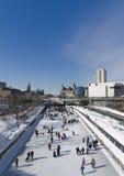 Canale di Winterlude Rideau in Ottawa immagine stock libera da diritti