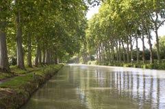 Canale du Midi fotografia stock