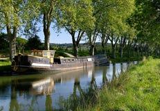 Canale du Midi nel sud della Francia Fotografia Stock