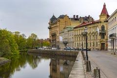 Canale e parco di Gothenburg Immagine Stock Libera da Diritti