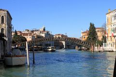 Canale e ponte Venezia Italia immagini stock libere da diritti