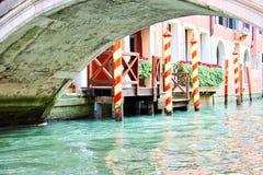 Canale e ponticello di Venezia Immagine Stock
