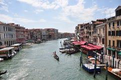 Canale gran - Venezia, Italia fotografia stock
