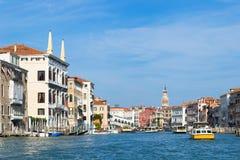 Canale gran Venezia, Italia Fotografia Stock