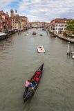 Canale Grance con la gondola a Venezia immagine stock libera da diritti