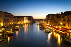 Canale Grande at dusk, Venice, Italy Stock Photo