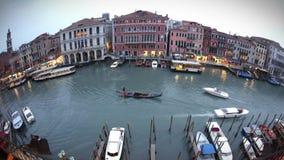 Canale Grande Fisheye stock video footage
