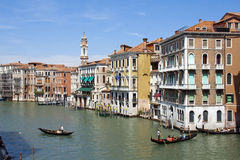 Canale Grande mit Gondeln Royalty Free Stock Photography