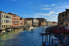 Canale Grande,Old Buildings, Venice, Venezia, Italy Stock Photography