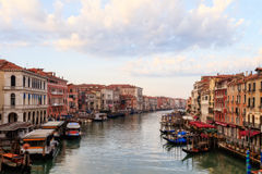 Canale Grande. Outdoor Picture of the amazing great canal in the lagoon city of stone Venice stock photography