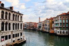 Canale Grande. Outdoor Picture of the amazing great canal in the lagoon city of stone Venice stock images