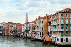 Canale Grande. Outdoor Picture of the amazing great canal in the lagoon city of stone Venice stock image