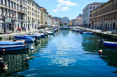 Canale grande Triest, Italy Royalty Free Stock Image