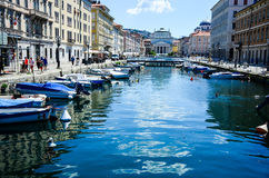 Canale grande Triest, Italy Royalty Free Stock Photography