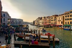 Canale Grande - Venedig. Canale Grande in Venice in the evening light royalty free stock photo