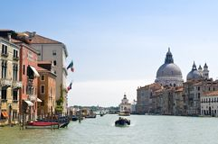 Canale Grande in Venice. On a sunny day stock images