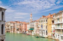 Canale Grande in Venice. On a sunny day stock photography
