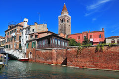 The Canale Grande in Venice. The most famous canal in the world - the Canale Grande in Venice stock image