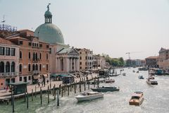 Canale Grande in Venice. The Canale Grande in Venice stock photos