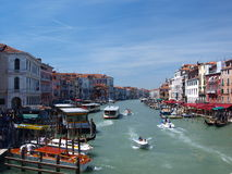 Canale Grande, Venice, Italy. The banks of the Canale Grande, Venice, Italy royalty free stock photos