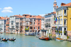 Canale Grande ,Venice Italy. Canale grande with gondols and colorful buildings in Venice , Italy royalty free stock photography