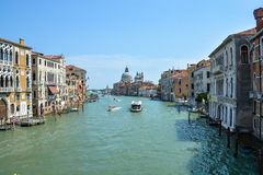Canale Grande in Venice, Italy. In the summer stock photos